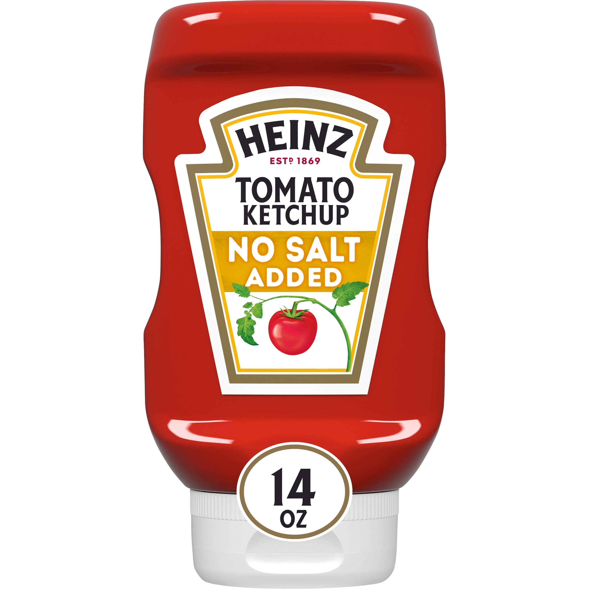 Heinz tomato Ketchup No Added Salt (14oz Bottles, Pack of 6)