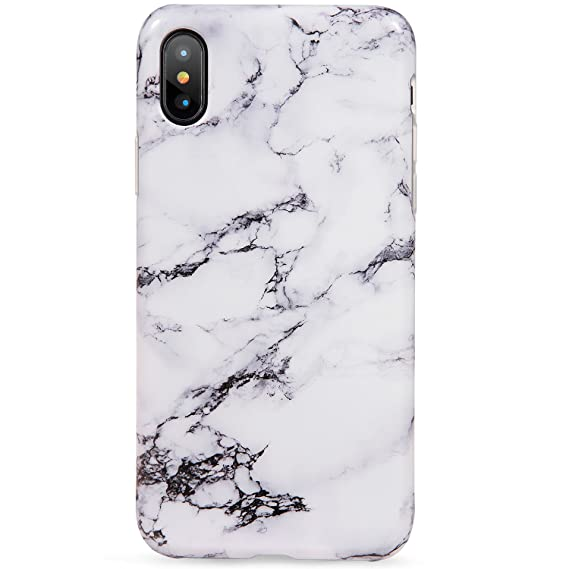 size 40 cca75 f8683 LUMARKE iPhone X Case,iPhone Xs Case,Cute Black White Marble for Girls  Women Slim-Fit Glossy TPU Clear Bumper Flexible Soft Rubber Silicone Best  ...