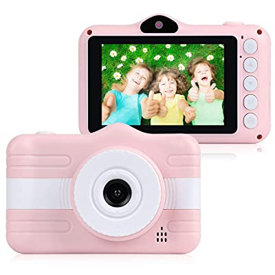 AINGOL Cámara para niños, cámara Dual Digital Creativa de 8.0MP, videocámara Recargable para niños con Pantalla táctil de 2.8 Pulgadas, Zoom Digital 4X, Regalo para niñas de 3 a 12 años: Hogar