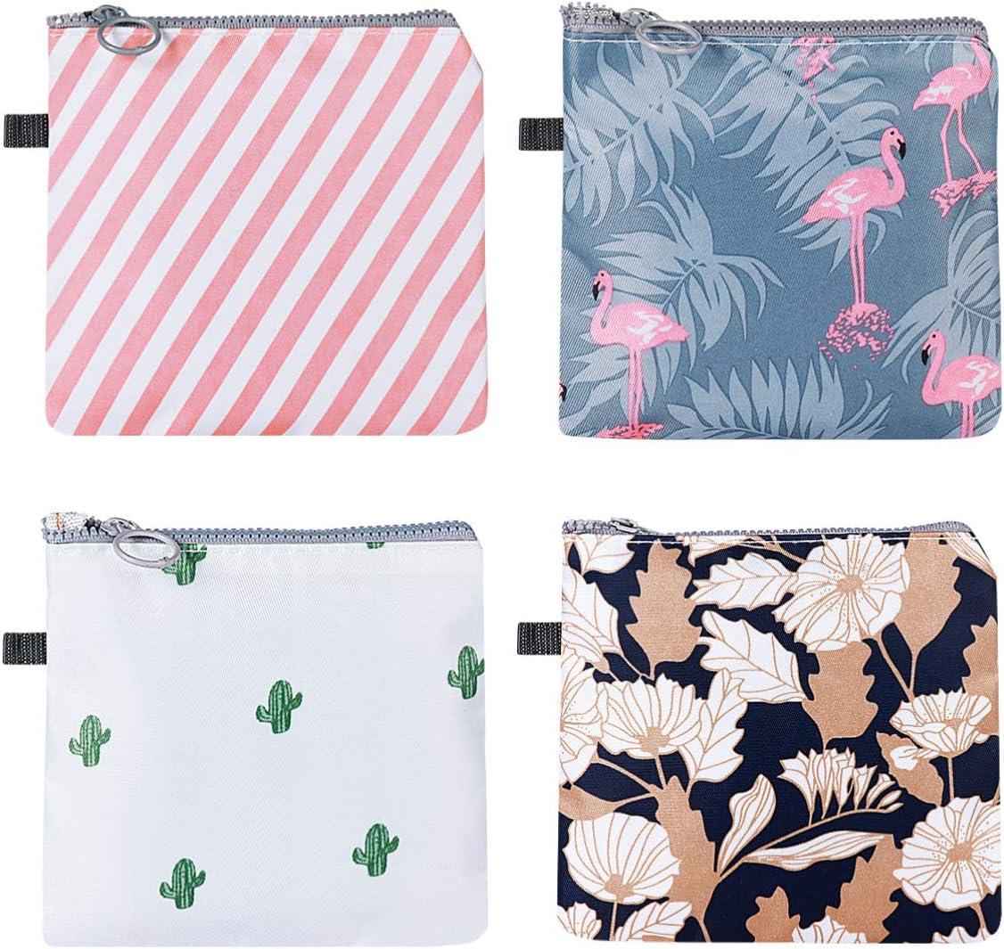 SUPVOX Bolsa de toallas sanitarias de 4 piezas tampones de bolsa de copa menstrual bolsas de recogida soporte de almohadilla de lactancia lavable para ...