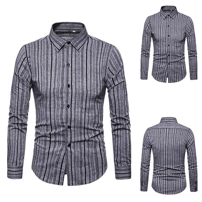 Amazon.com: Zulmaliu - Camisas de vestir para hombre, con ...
