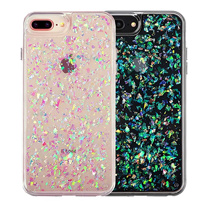 finest selection 36739 aaadc Amazon.com: Holographic iPhone 8 Plus Glitter Case/iPhone 7 Plus ...