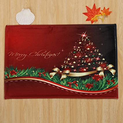 home decorpandaie christmas decorations clearance merry christmas welcome doormats indoor home carpets decor 40x60cm - Christmas Indoor Decorations Sale