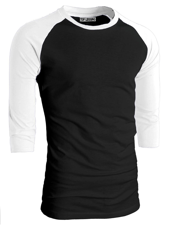 TLメンズベーシッククルーネックコットン3 / 4スリーブEssentail Raglan Baseball Teeシャツ B019EJHCZ8 XXX-Large 3/4_bblk_swhite 3/4_bblk_swhite XXX-Large