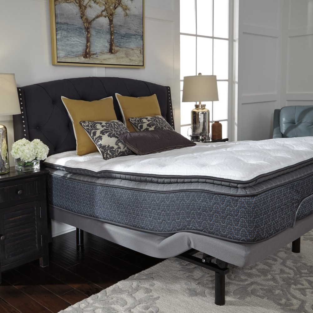 Ashley Furniture Signature Design - Sierra Sleep - Limited Edition Pillowtop Mattress - Traditional Inner Spring California King Size Mattress - White