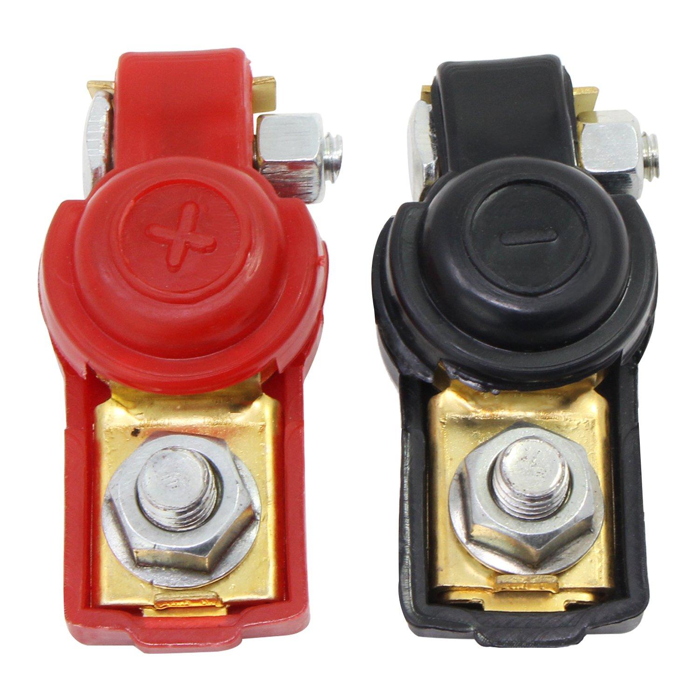 OCR Battery Terminal Clamp Positive Negative 2//4//8 Gauge Car Battery Terminal Clips Gold