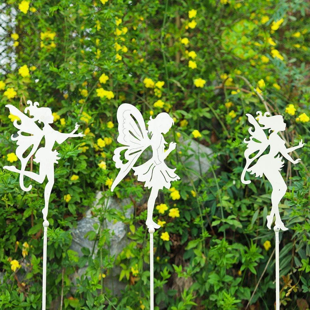 Balcone, Decorazione paesaggistica da Giardino Ornamenti in Metallo con Bastoncini di Fata Supporto per Piante da Giardino per Interni allaperto XHCP Pali Decorativi da Giardino