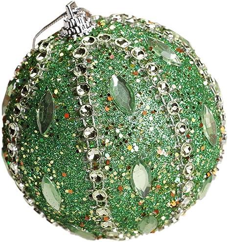 Yliquor Christmas Ball Mini Rhinestone Glitter Baubles Balls Ornaments Party Holiday Festival Decoration for Xmas Tree Pendants Ornament 1pcs