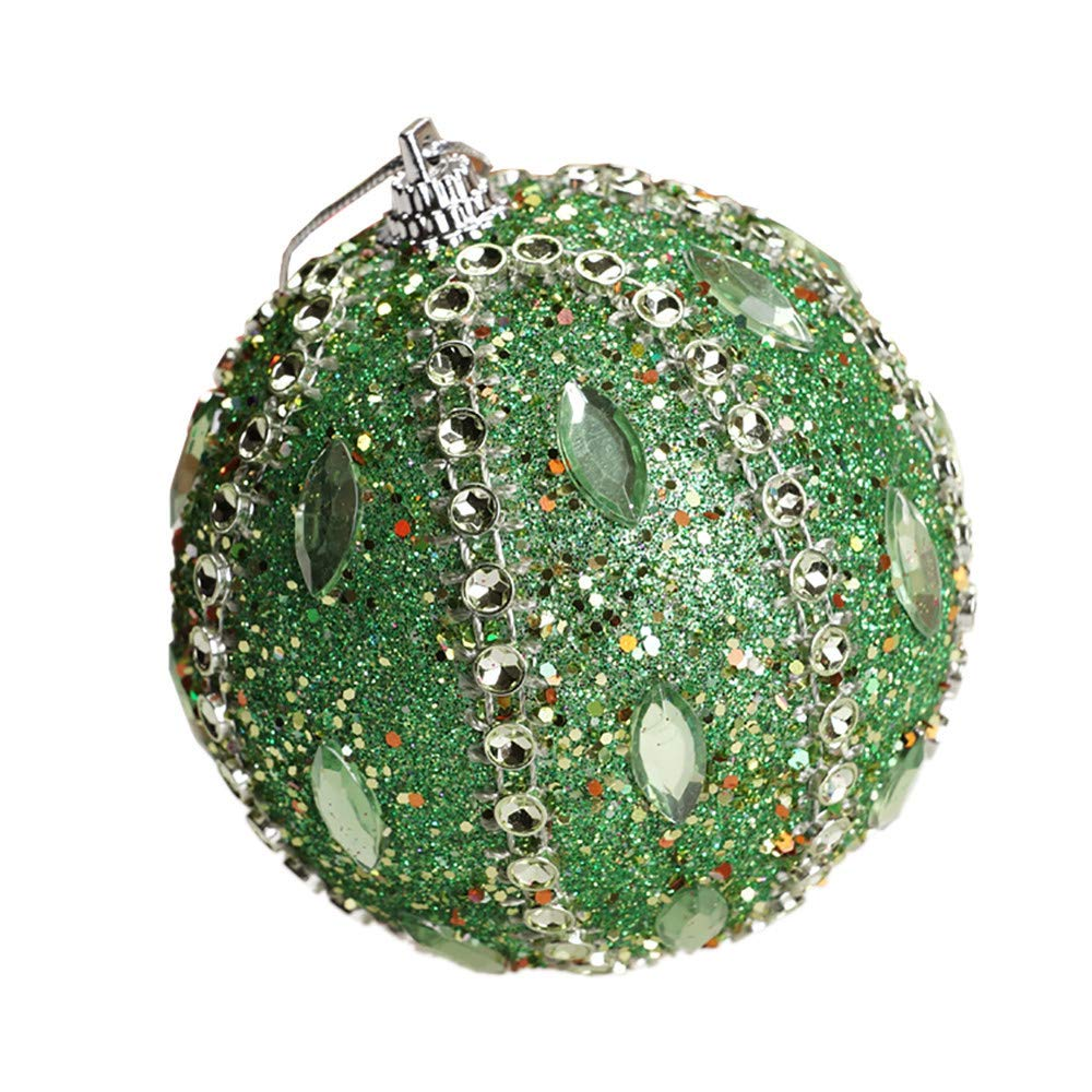 3.15in Christmas Ball Ornament Party Xmas Tree Ornaments Shatterproof Christmas Decorations(Green, 80mm)