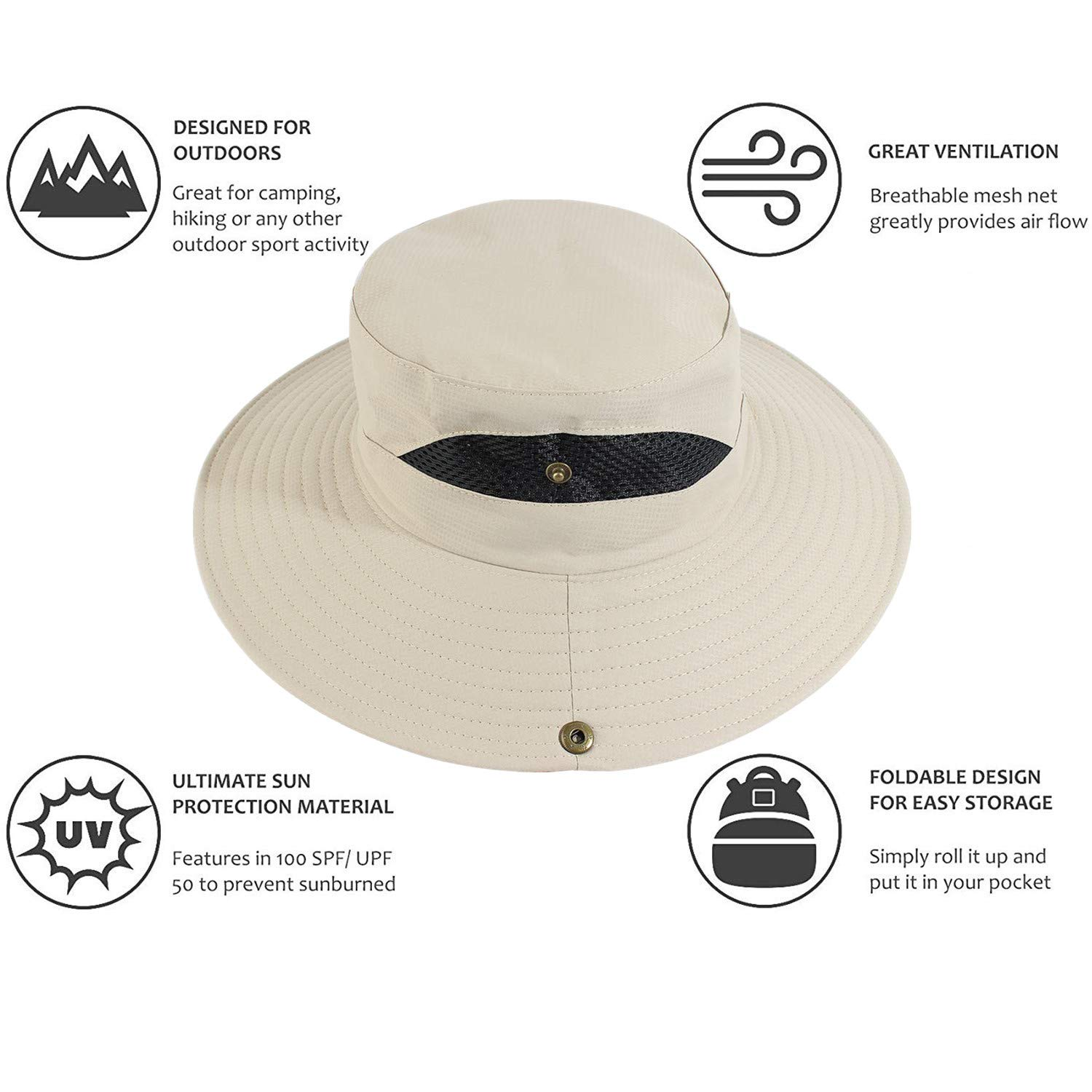 Fishing Hat Sun Hat with Removable Net Mesh Bug Face Shield Protection from Insect Bug Bee Mosquito Gnats for Outdoor Lover KPWIN Bug Mosquito Head Net Hat