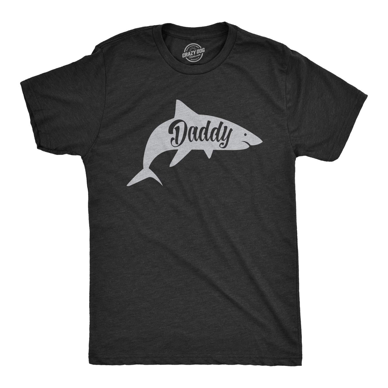 S Daddy Shark Tshirt Cute Funny Family Ocean Beach Summer Vacation Tee For Guys