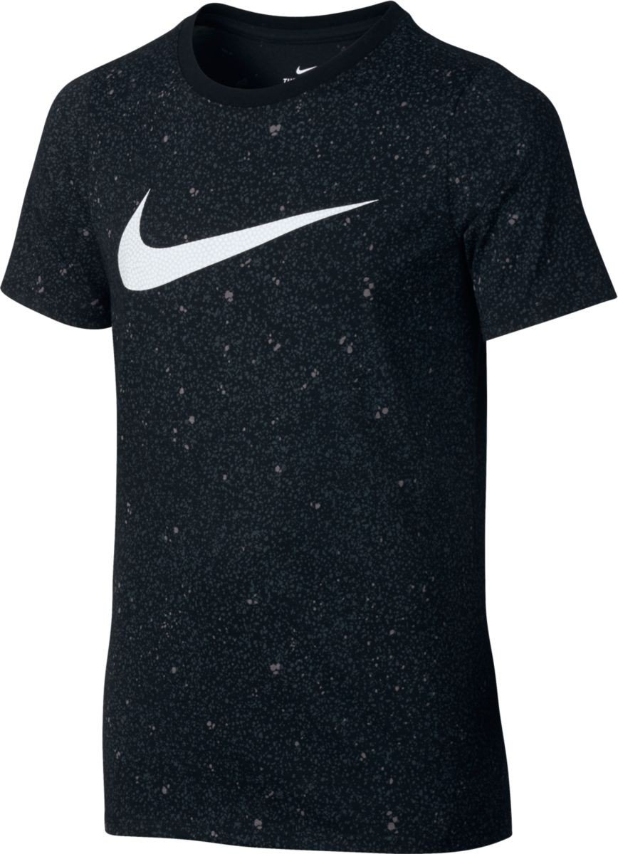 Nike B Nk Dry tee SS Camiseta de Manga Corta de Baloncesto, Niños, Naranja (MAX Orange), XL Niños 838169-852