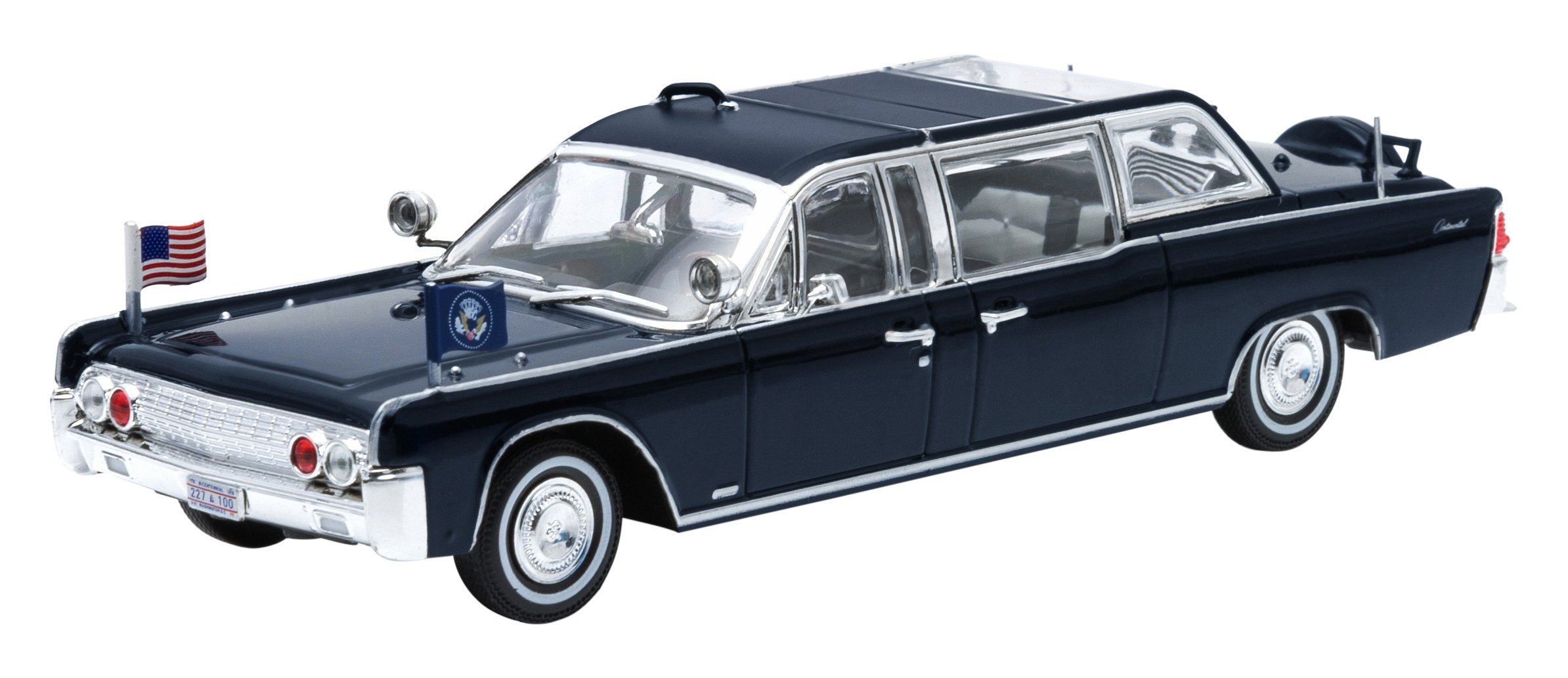 Greenlight Collectibles Presidential Limo 1961 Lincoln Continental SS-100-X John Kennedy Vehicle (1:43 Scale)