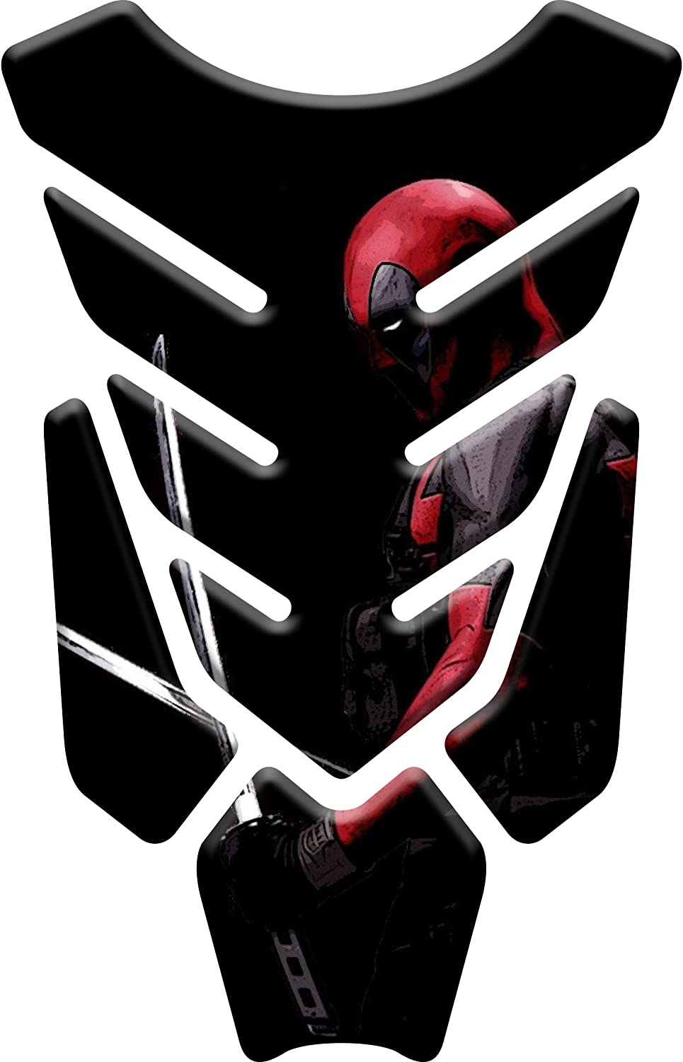 / Deadpool V1,/ Tankpad Motorcycle Wire Pattern Tank Compatible Polymer