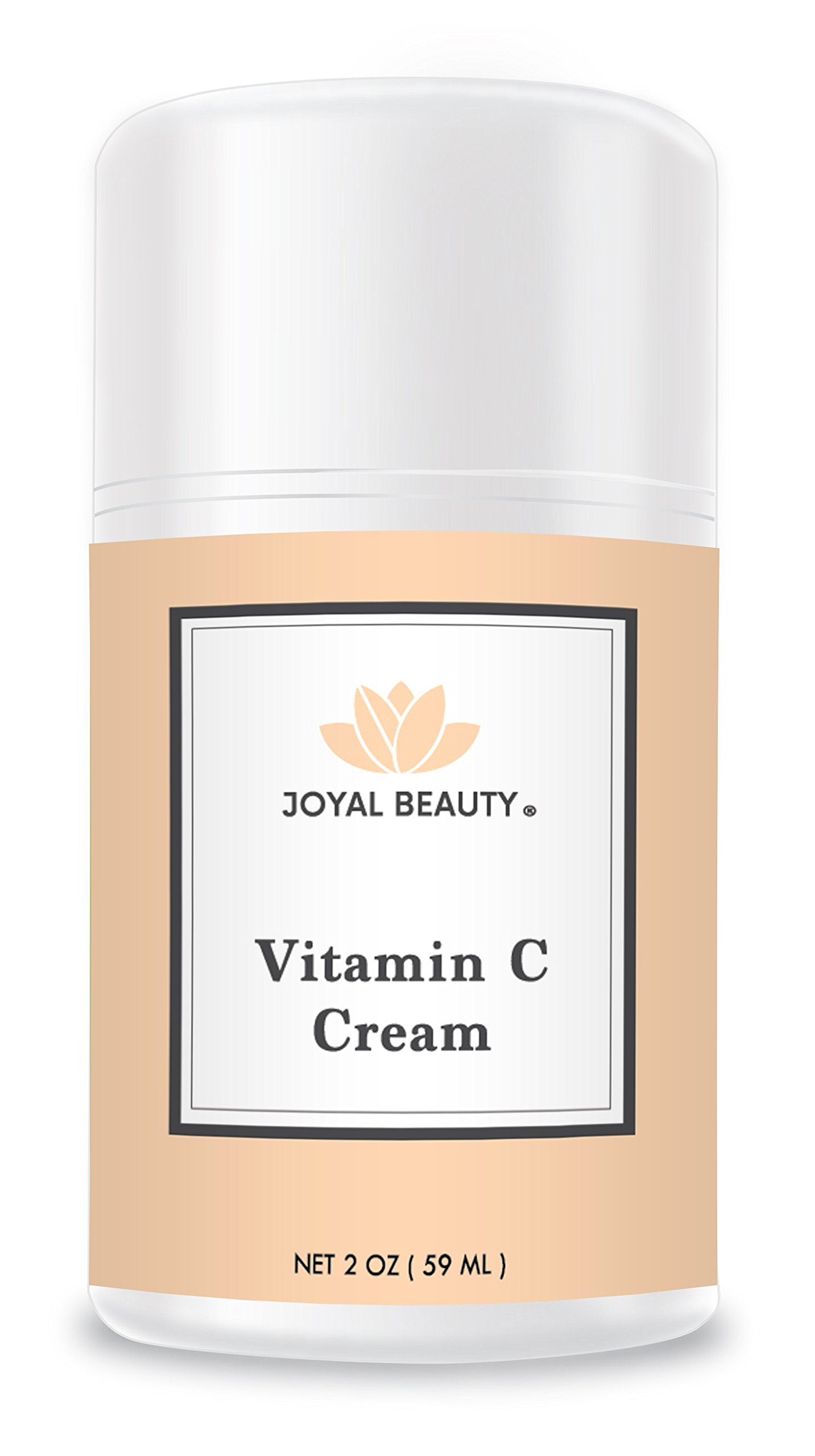 Joyal Beauty Organic Vitamin C Cream for Your Face Skin Body Eyes. Best Day and Night Natural Bright Ultra Hydration Moisturizer with Essential Oils for Men and Women to Nourish and Soften Dry Skin.
