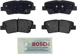 Bosch BE1544 Blue Disc Brake Pad Set for Hyundai: 2012-15 Accent, 2010-15 Elantra, 2013-14 Elantra Coupe; Kia: 2014-15 Optima, 2012-16 Rio - REAR