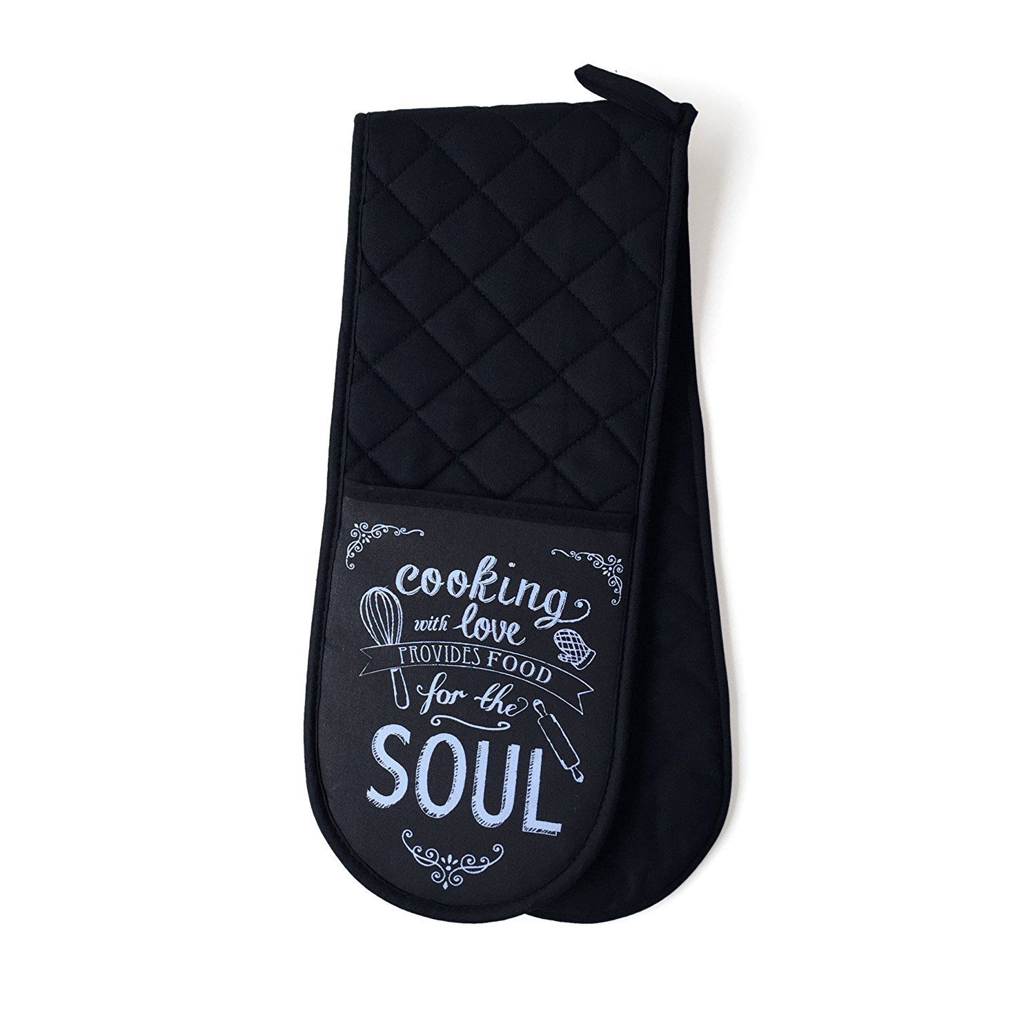 Vintage Double Oven Glove Cooking With Love Provides Food for the Soul