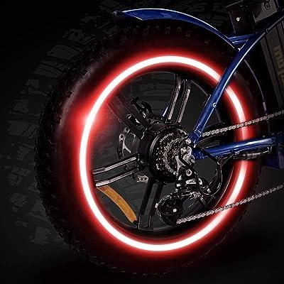 Bicycle Bike MTB Motorbike Car Reflective Rim Safety Tape Wheel Sticker Trim UK