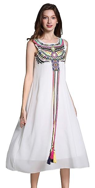 Amazon.com: Shineflow Blusa de mujer casual sin mangas ...