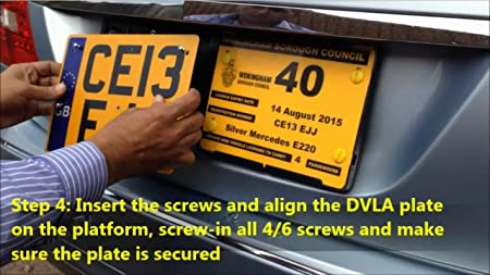 for Taxi Twin Plate Holder Platform Permanent Fix Private Hire,Chauffeur Cars