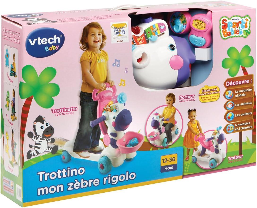VTech Baby - Trottino Mon Zèbre Rigolo Rose