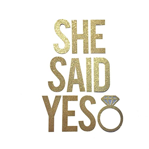 Amazon Com She Said Yes Bridal Shower Banner Sign Bridal