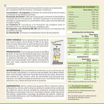 Epaplus Articulaciones Vegetal con Aminoácidos del Colágeno + Proteína Vegetal. Disolución INSTANT - 30 Días (300 g. Sabor piña)