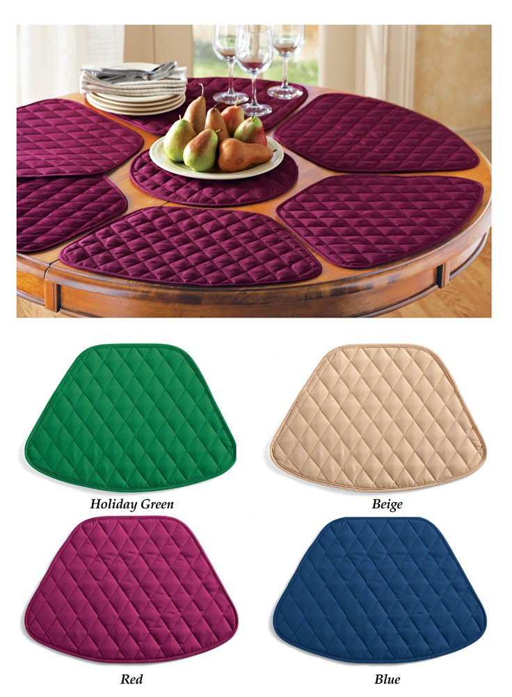 Amazon.com: Round Table Placemats (Set Of 7)   Burgundy: Home U0026 Kitchen