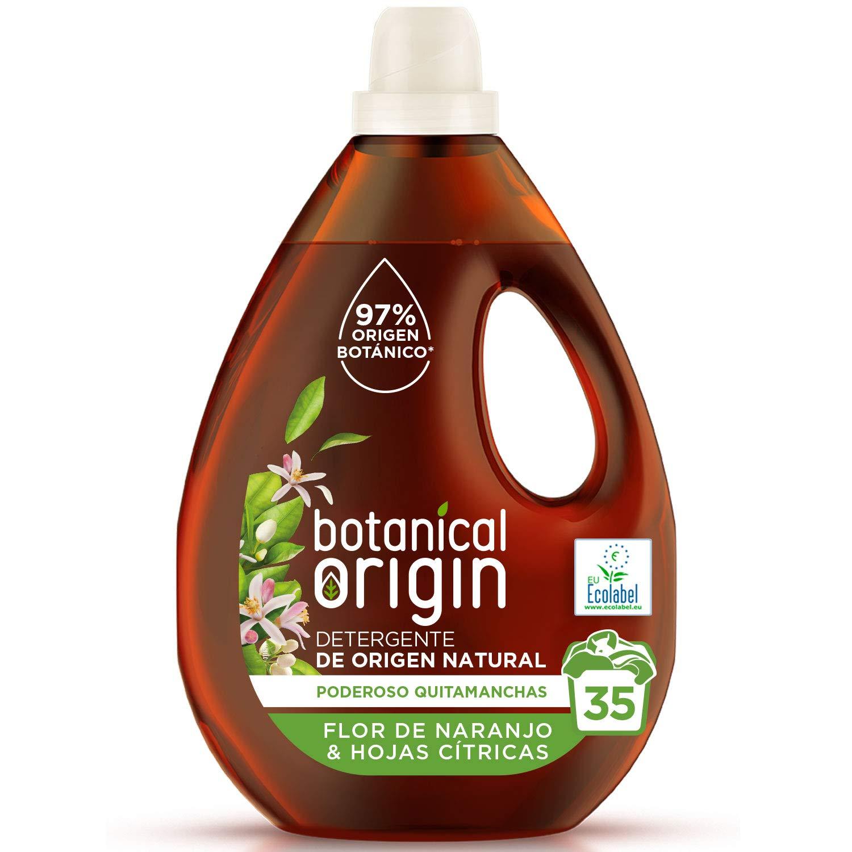 Botanical Origin Detergente para Lavadora Ecológico apto para Pieles Sensibles, Fragancia Flor de Naranjo y Hojas Cítricas - 35 Lavados