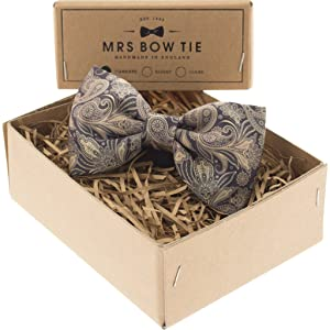 Mrs Bow Tie Audley Ready-Tied Bow Tie | Gold