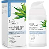 Hyaluronic Acid Eye Gel Cream - Hydrating Dark Circle, Eye Bags Remover & Puffy Eyes Moisturizer - Crows Feet, Lines…