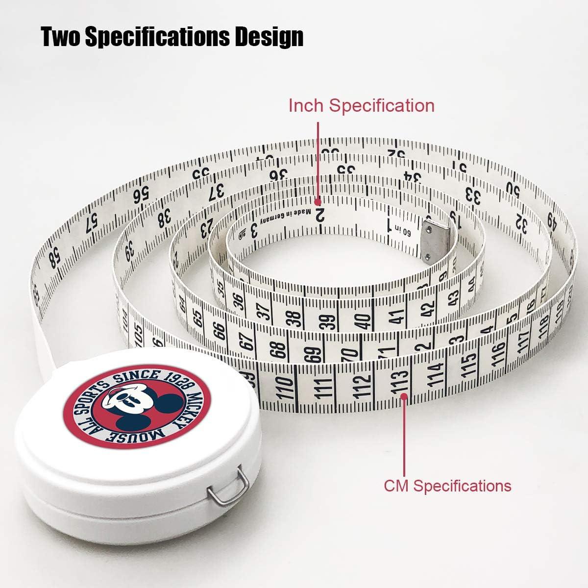 Surmoler Tape Measure 1.5 Meter 60 Inch Push Button Retractable Measuring Tape Measuring Tape for Body Tailor Sewing Craft Cloth Dieting Measuring Tape Disney Mickey