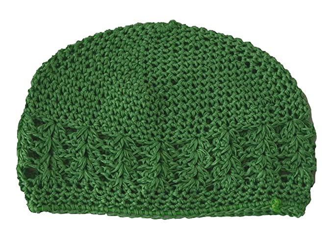 Image Unavailable. Image not available for. Color  MM Kufi Hat Crochet Cap  Beanie Kelly Green 0c7ca815e1ce