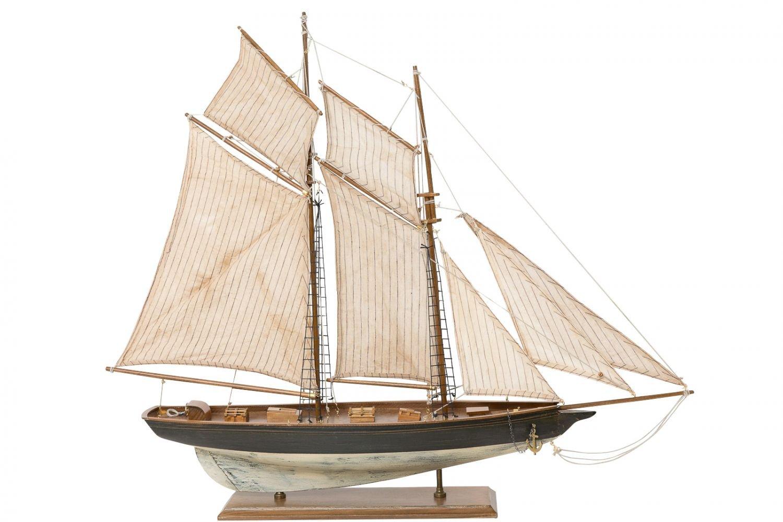 Maquette de voilier//yacht /à voiles 85 cm bois