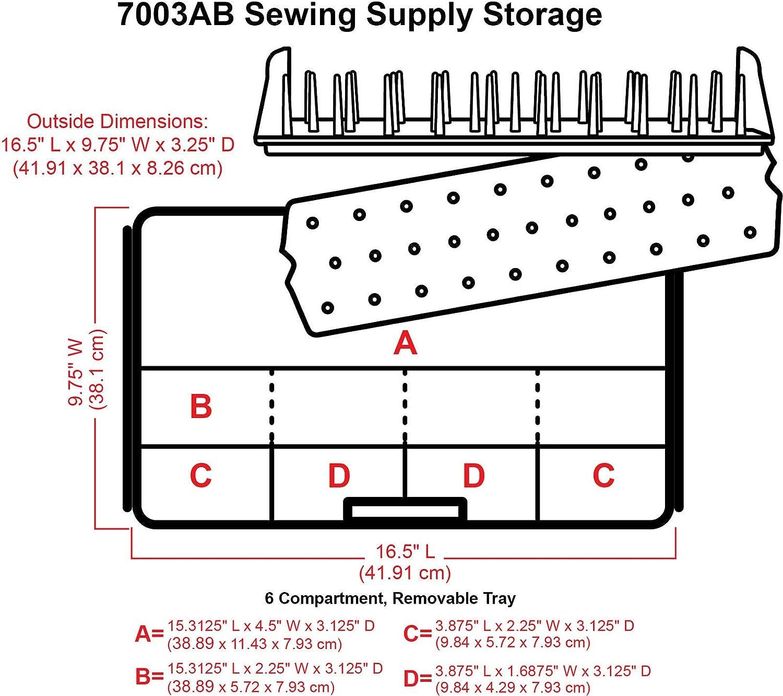 ArtBin 7003AB Scatola da Cucito 41,91 x 24,76 x 8,25 cm