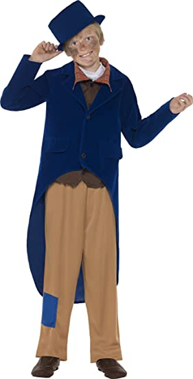 Smiffys Dickens Boy Traje, chaqueta, pantalones, camisa Mock con ...