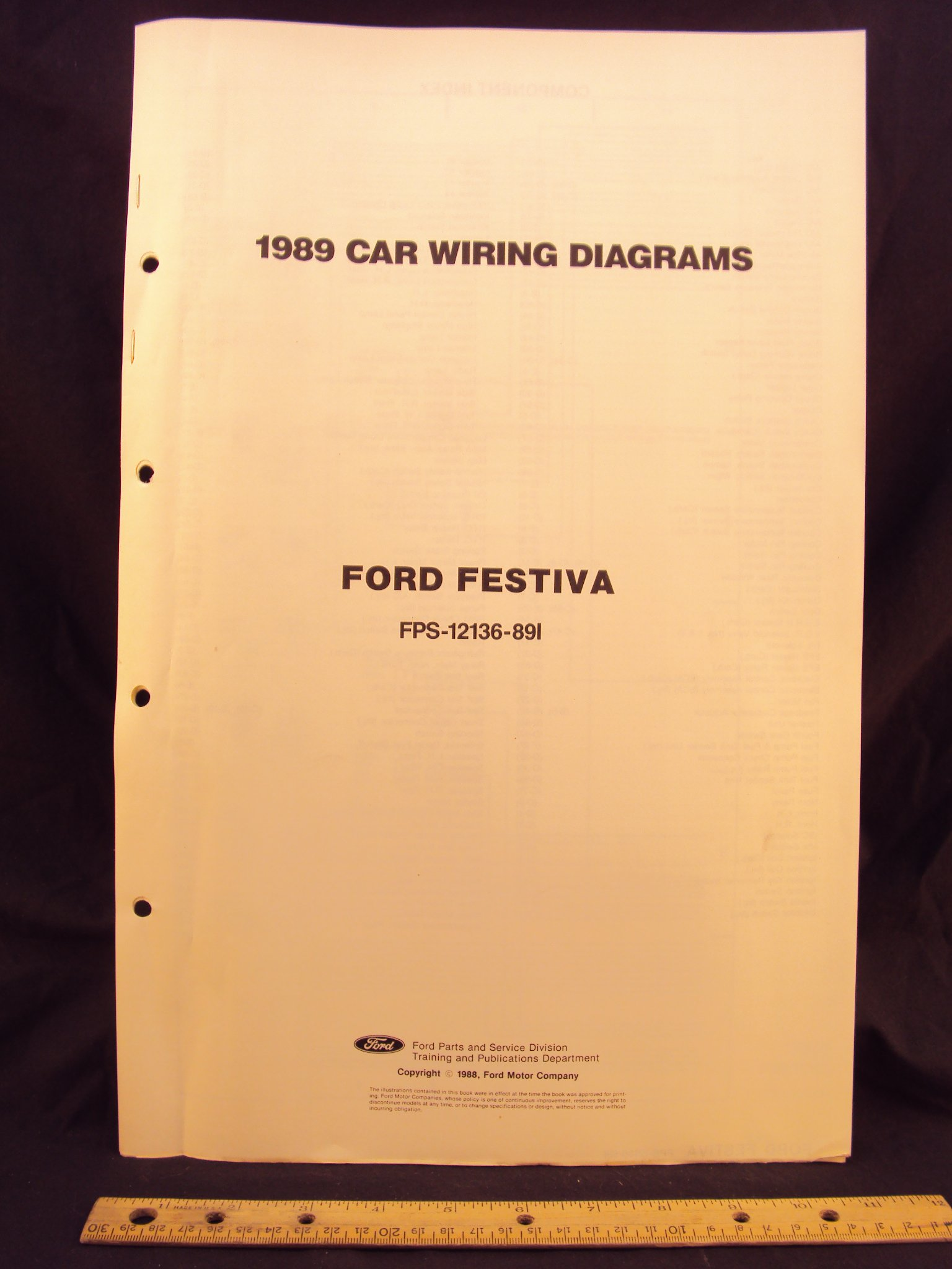 1989 ford festiva electrical wiring diagrams schematics ford rh amazon com 1993 Ford Festiva Wiring-Diagram 1993 Ford Festiva Wiring-Diagram