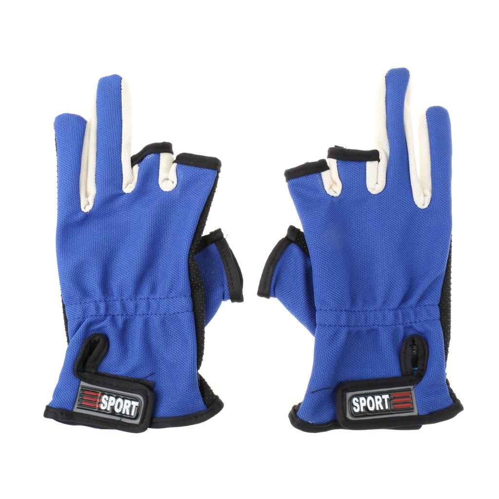 Wasserdicht Rutschfest 2-Finger Angelhandschuhe Handschuhe für Angeln Fischen Fahrrad Radsport 21 5 x 8 5 cm Generic