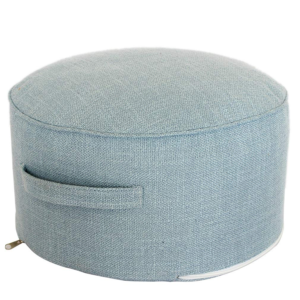 Simple Portable Stool Removable Beanbag Foot Stool Coffee Table Small Stool Bench Multicolor (Color : Blue) BMM SHOP