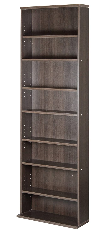 サンニード 薄型 本棚 S-1860 書棚 ダークブラウン 木製 幅60cm 高さ180cm A-L1 B010ANEXKY ダークブラウン ダークブラウン