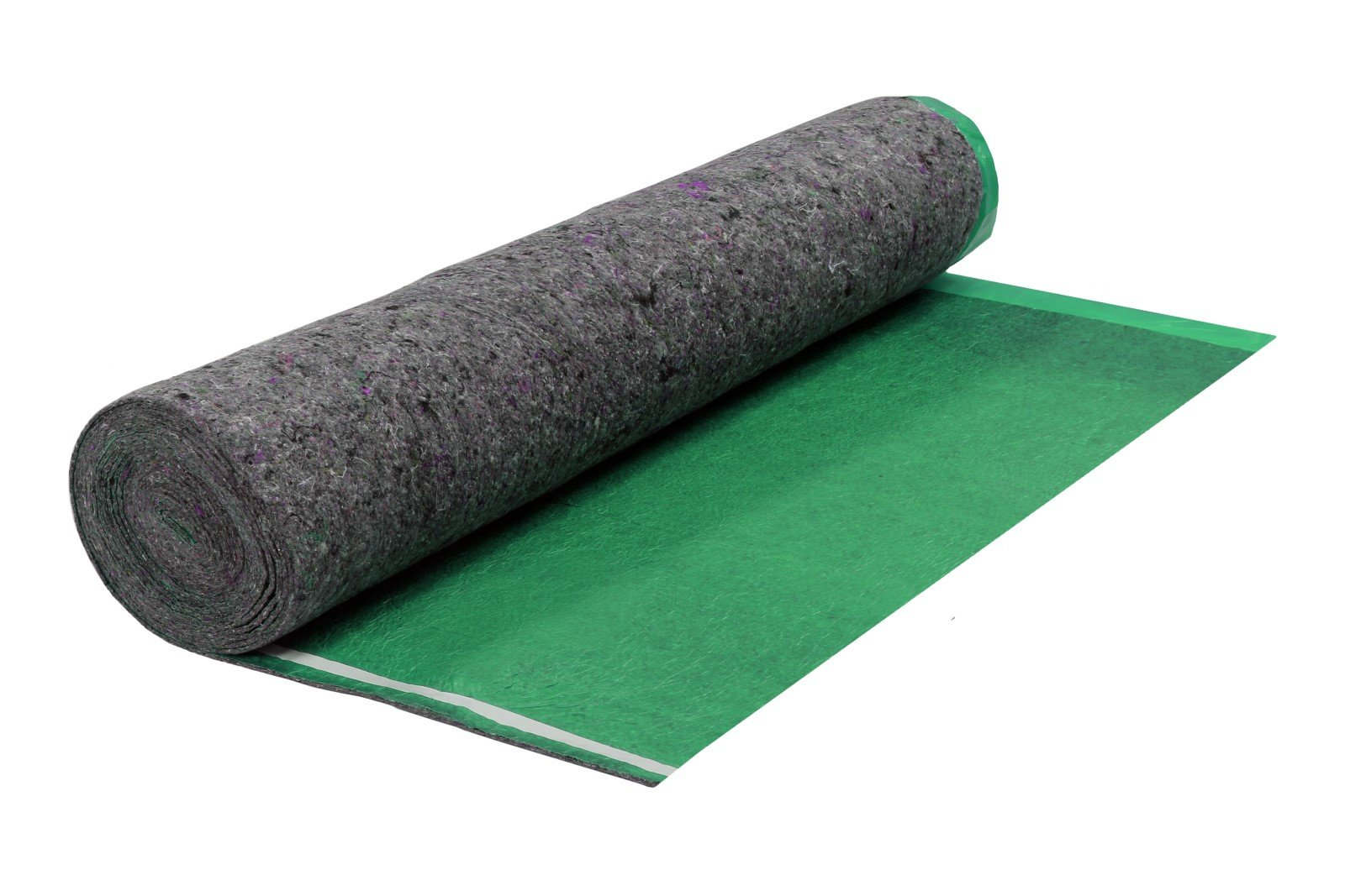 200SQFT 3.5MM AMERIQUE Super Quiet Walk Felt Underlayment Heavy Duty Padding with Vapor Barrier & Tape, Perfect for Hardwood, Bamboo, Floating Floors & Laminate, Bright Green, Pack of 2 by AMERIQUE (Image #1)