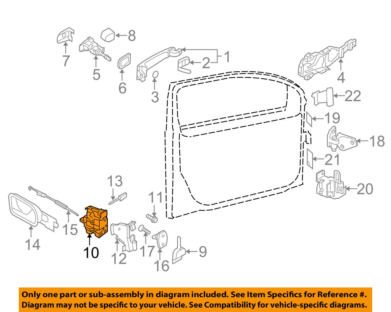 genuine oe volkswagen door lock latch assembly module 3b1837015at driver side front 2002 Ford Explorer Door Lock Diagram