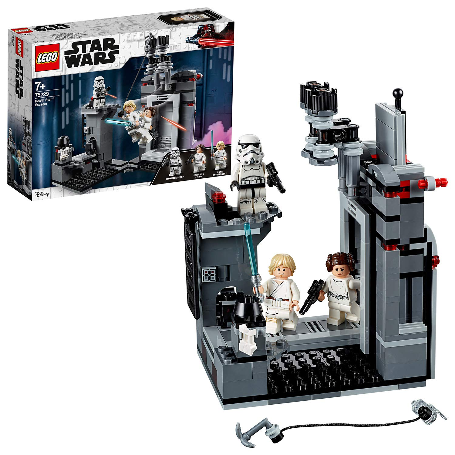 9a3f48d188 LEGO 75229 Wars A New Hope Death Star Escape Building Kit  Amazon.co.uk   Toys   Games