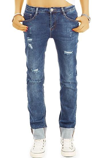 51756dfbda7e3c bestyledberlin Damen Baggy-Jeans, Relaxed Fit Boyfriend Jeans, Used Look  Hüftjeans j36g 26