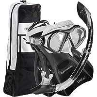 US Divers Admiral LX, Island Dry LX & Trek Premium Set de Primera Calidad para esnórquel