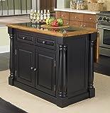 Home Styles  Monarch Granite Top Kitchen Island, Black and Distressed Oak Finish