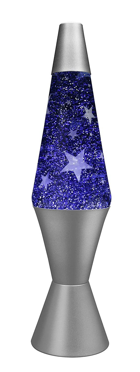 Lava Lamp 21800400UK 14.5-Inch Frosted Lamp, Blue: Amazon.co.uk ... for Blue Glitter Lava Lamp  545xkb