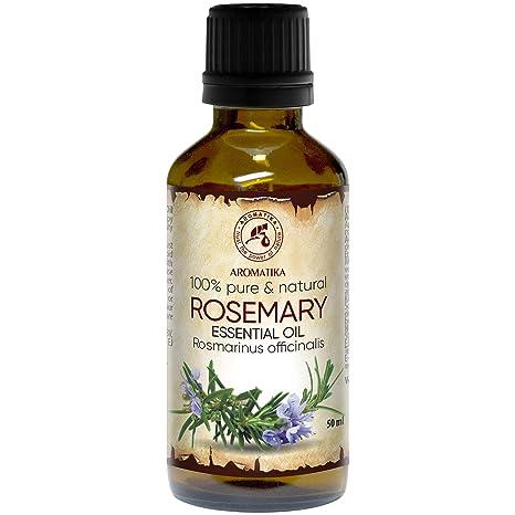 Aceite de Romero 50ml - Rosmarinus officinalis - España - 100% Puro y Natural - Mejor para Aromaterapia - Baño de Aroma - Difusor - Fragancia para el ...