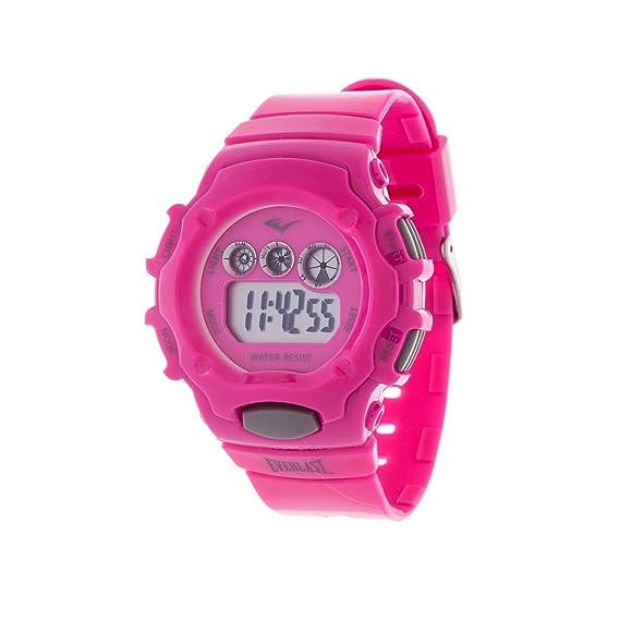 Everlast rosa Retro Hombres redondo Digital del deporte Digital reloj con correa de caucho: Everlast: Amazon.es: Relojes