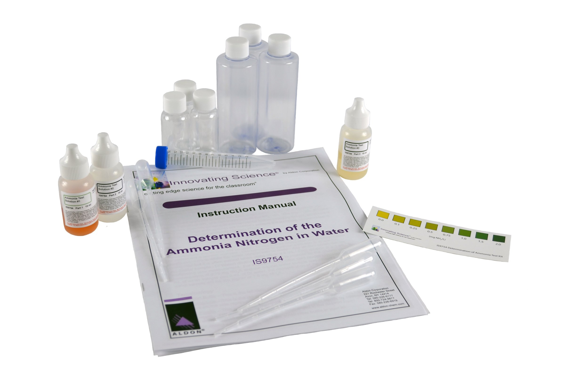 Portable Ammonium Nitrogen Concentration Water Testing Kit - Materials for 40 Tests